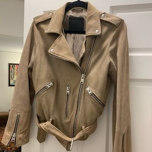 "All Saints Suede ""Balfern"" biker jacket- size 8"